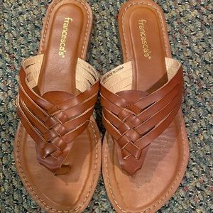 Francescas brown leather sandals